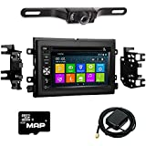 Otto Navi DVD GPS Navigation Multimedia Radio and Kit for Ford Mustang 2005-2009 with Back up camera and extra