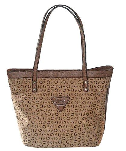 GUESS Signature Tansy Tote Bag Handbag Mocha