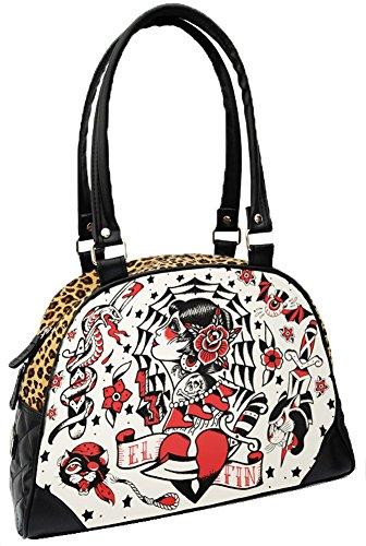 Liquorbrand-El-Fin-Old-School-Tattoo-Flash-Leopard-Print-Black-Handbag-Purse