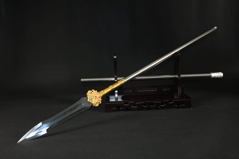Lin sword,Thunder Spear,Handmade,High Carbon Steel Blade,Battle Ready Lance