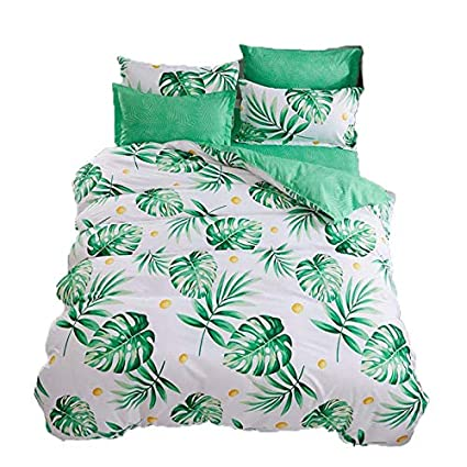 amazon com kimko palm tree leaves bedding set kids plant leaf duvet