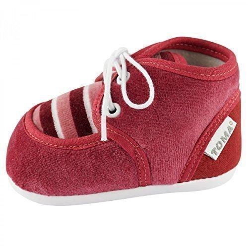 Zapatos de gateo de invierno para bebés burdeos
