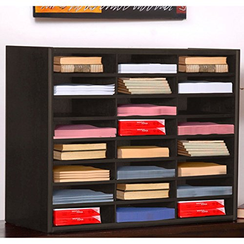 Letter Size Literature Organizer 24 Slots Espresso Finish by Concepts In Wood