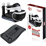 LIDIWEE PSVR Stand Charge, 4-in-1 Multi-function Stand with Dual Charging Station, Showcase and Move Controller Charging…