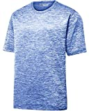 DRIEQUIP Men's Short Sleeve Moisture Wicking T-Shirt-ElectricRoyal-XS
