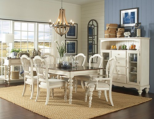Hillsdale Pine Island 7 -Piece Dining Set - with Wheat Back Chairs