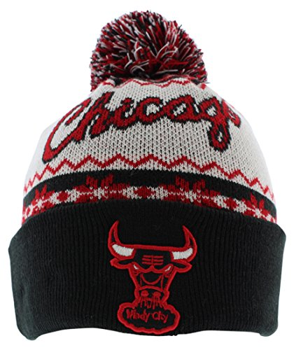 New Era Mens Chicago Bulls NBA Ugly Sweater Knit Hat