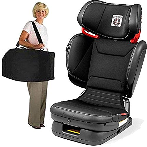Peg Perego Carry Viaggio Flex 120 Child Booster Seat with Carrying Bag – Licorice