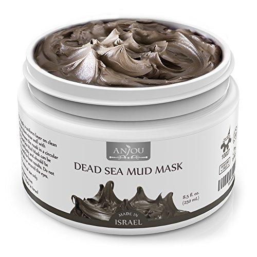 Anjou Dead Sea Mud Mask, Made in Israel, Deep Pore Cleansing and Detoxifying for Face and Body, 100 Natural Mineral-Rich Mask, 8 oz / 250 (Dead Sea Body Mud)