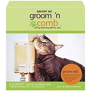 Sentry Groom N Comb Catnip Cat Self-Grooming Aid Kitty Korner Komber Grooming Brush with Catnip