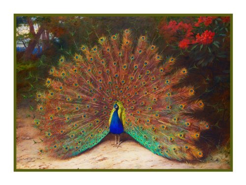 Orenco Originals Peacock and Butterfly by Archibald Thorb...