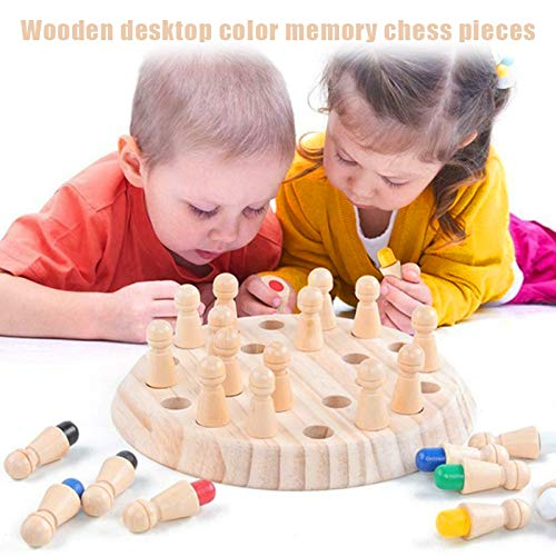 Syfinee Educational Toys, Kids Wooden Memory Match Stick Chess Game Educational Toys Parent-Child Interaction Toy…