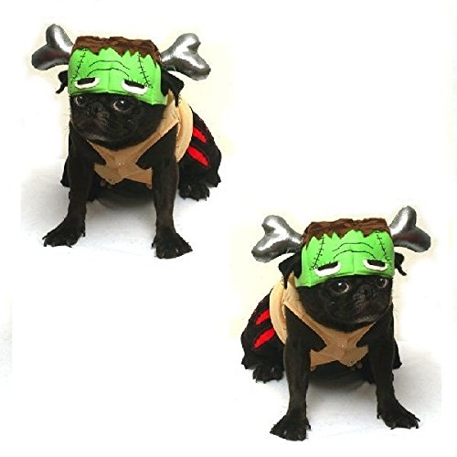 Barkenstein Dog Frankenstein Costumes - Halloween Green Monster Dogs Apparel (Size 2) ()