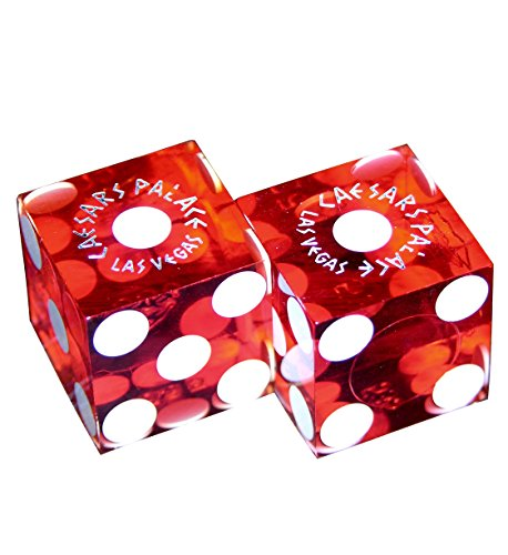 Pair (2) of Official 19mm (3/4 INCH) Casino Dice Used at Caesar's Palace in Las - Caesar Stores Palace