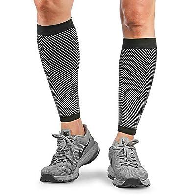 Merssyria Calf Compression Sleeves for Men & Women - Footless Leg Support Sleeve (20-30mm Hg) for Shin Splint, Leg Cramps, Calf Pain Relief, Running, Nurses, Circulation