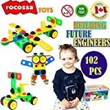 STEM Building Toys for Boys and Girls | Educational and Learning Blocks for Children | Birthday Gift for 3 4 5 6 7 8 9 10 + Year Old Kids Construction Tiles Engineering Preschool Tools Montessori Toys Game Kit Set