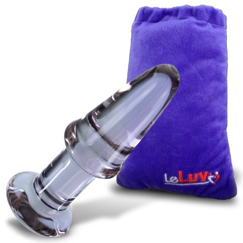 LeLuv-Butt-Plug-Beginner-5-Inch-Glass-Anal-Toy-Purple-Bundle-with-Premium-Padded-Pouch