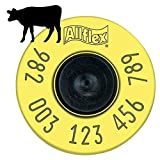 Allflex EID Cattle Ear Tags FDX Yellow Tamperproof 250 Count