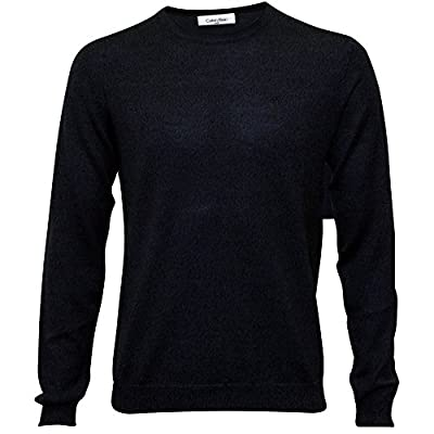 Calvin Klein Crew-Neck Fitted Knit Men's Sweater, Indigo Mouline