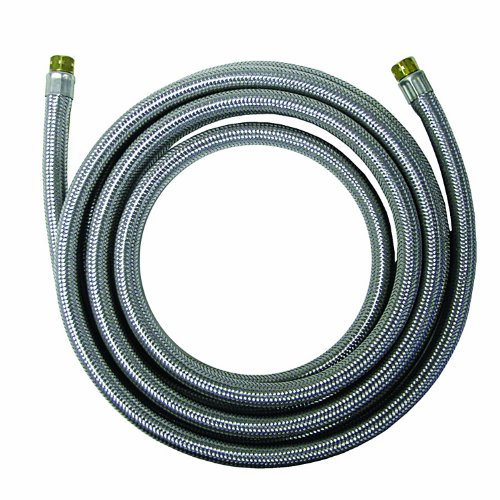 Watts WTS-SPCC72-44 Stainless Steel Icemaker Supply Line, 6-Foot (Maker Hose Stainless Ice Steel)