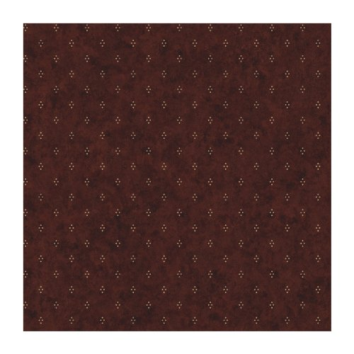 York Wallcoverings JN1713SMP Crackle Dot Country Wallpaper Memo Sample, 8-Inch X 10-Inch, Red