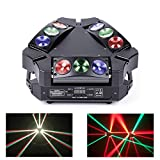 JUDYelc Professional LED 9 Head Bird Spider Lights New Bar Wedding DMX Moving Head Light Bar KTV DJ Disco Stage Beam Lighting
