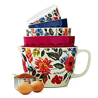 Melamine 10-Piece Nesting Bowl Set with Lids