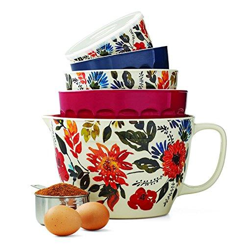 Melamine 10-Piece Nesting Bowl Set with Lids