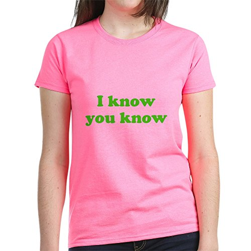 CafePress I Know You Know - Womens Cotton T-Shirt