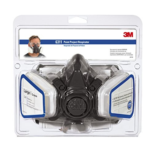 3M Paint Project Respirator, Large, 4 per Case by 3M