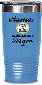 Home is Where Mom Is Tumbler, Mother, Mommy, Mum, gold house, child to parent, daughter, son