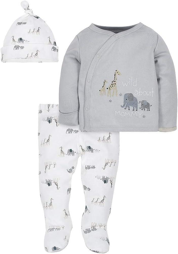 3-Piece Wild Animals Organic Cotton Take-Me-Home Set