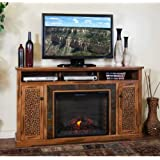 Sedona 66  TV Stand with Electric Fireplace