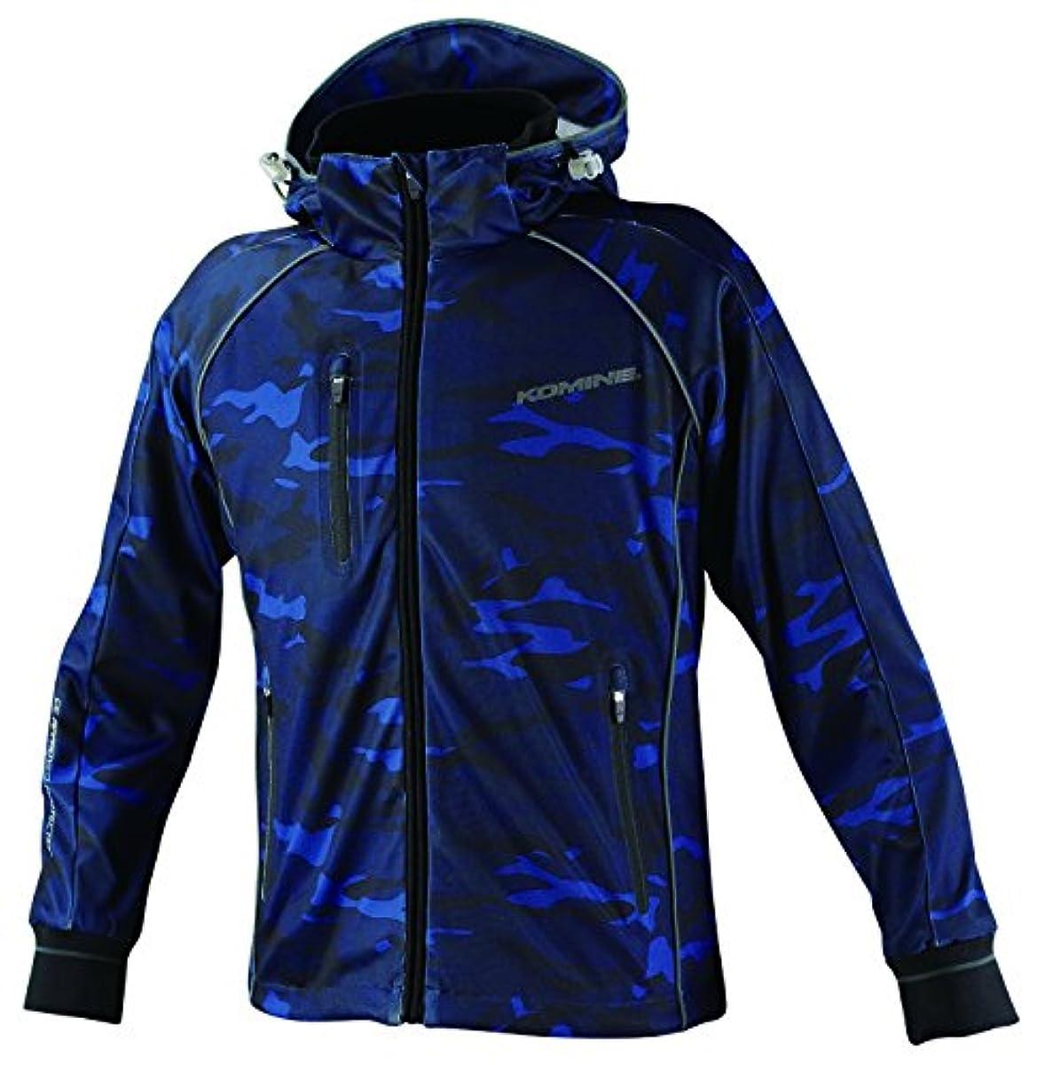 [해외] 코미네 KOMINE 오토바이 숨(su:m)스 메쉬 저지 파카 재킷 아우터 더 네 프로텍터 통기성 BLUE CAMO M 07-113 JK-113