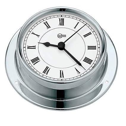 "BARIGO QUARTZ CLOCK 4/"" DIAL STAINLESS STEEL"