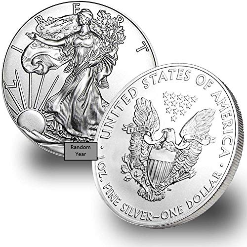 1986 - Present (Random year) 1-Ounce American Silver Eagle $1 .999 Fine Silver Brilliant Uncirculated US Mint
