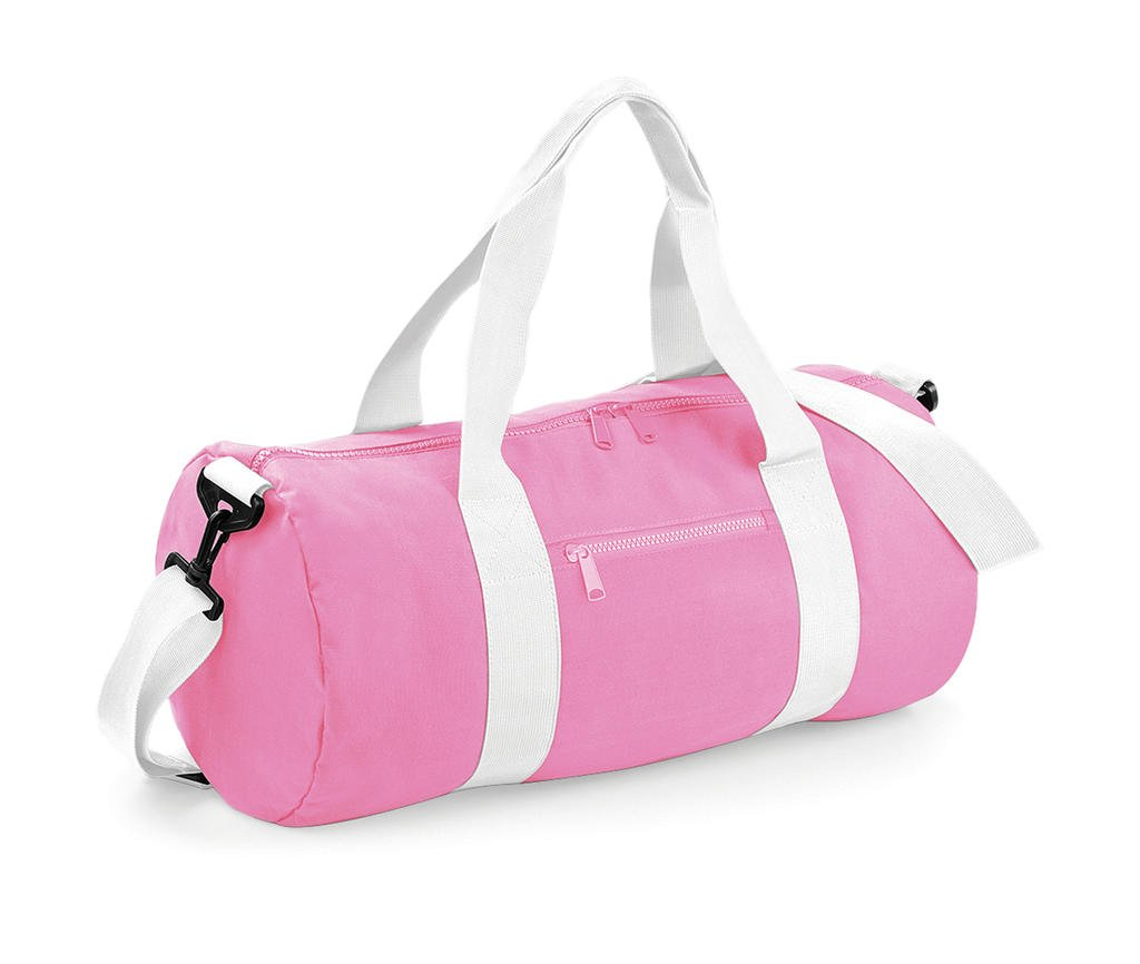 BagBase Unisex BG140CPWH Original Barrel Bag, Classic Pink/White, Medium