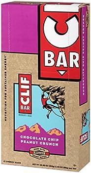 Clif Bar Chocolate Peanut Crunch 2.4-Oz. Protein Bar (12-Ct.)