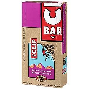 CLIF BAR - Energy Bar - Chocolate Chip Peanut Crunch - (2.4 Ounce Protein Bar, 12 Count)