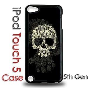 IPod 5 Touch Black Plastic Case - Flower Skull
