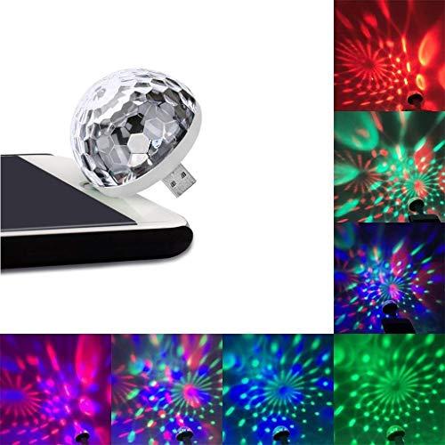 - Euone  Disco Light, USB Mini LED Night Light Color Changed by Sound Music Magic Lights LED Mushroom