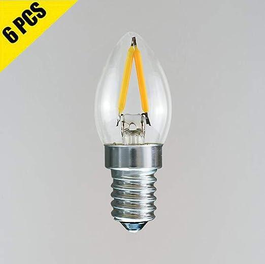 Paquete de 6 bombillas LED para candelabros (2W), bombillas ...