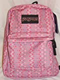 Jansport Superbreak Pink Polka Dot Backpack