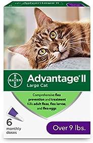 Advantage II 6-Dose Large Cat Flea Prevention, Flea Prevention for Cats, Over 9 Pounds