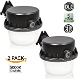 Sunco Lighting 2 PACK - 35W Dusk-to-dawn LED Outdoor Barn Security Light, 260W Equivalent, 5000K Daylight, 4025lm Floodlight, ETL-listed Yard Light for Area Lighting, Wet Location Photocell Included