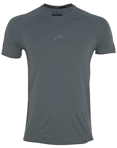 b502e9a10db01f Amazon.com  Jordan Mens Stay Cool Fitted Training Shirt Grey  Shoes