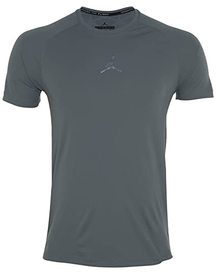 b502e9a10db01f Amazon.com  Jordan Mens Stay Cool Fitted Training Shirt Grey  Shoes