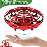 UFO Flying Ball Toys, Gravity Defying Hand-Controlled Suspension Helicopter Toy, Infrared Induction Interactive Drone Indoor Flyer Toys with 360° Rotating for Kids, Teenagers Boys Girls (Red)