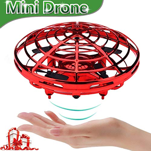 UFO Flying Ball Toys, Gravity Defying Hand-Controlled Suspension Helicopter Toy, Infrared Induction Interactive Drone Indoor Flyer Toys with 360° Rotating for Kids, Teenagers Boys Girls (Red) by ZD-SPORT (Image #8)