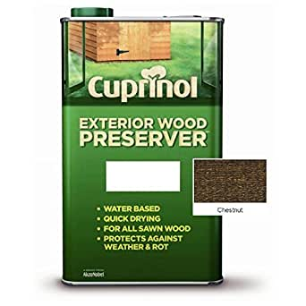 cuprinol exterior wood preserver chestnut 5l by cuprinol appliances